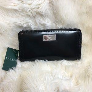 Ralph Lauren Genuine Leather Wallet Black NWT